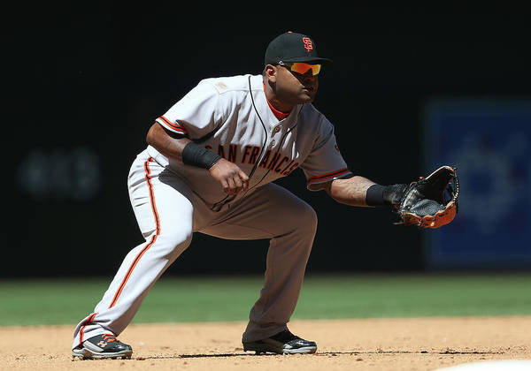 Pablo Sandoval Art Print featuring the photograph Pablo Sandoval by Christian Petersen
