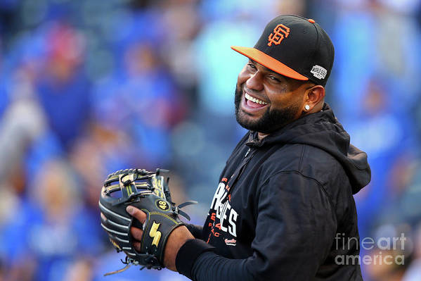 Game Two Art Print featuring the photograph Pablo Sandoval by Dilip Vishwanat