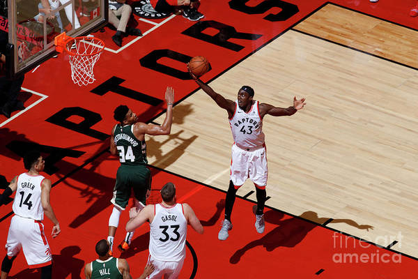 Playoffs Art Print featuring the photograph Pascal Siakam by Mark Blinch