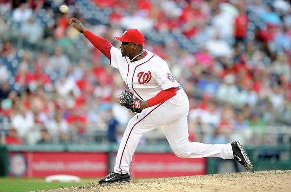 Ninth Inning Art Print featuring the photograph Rafael Soriano by Greg Fiume
