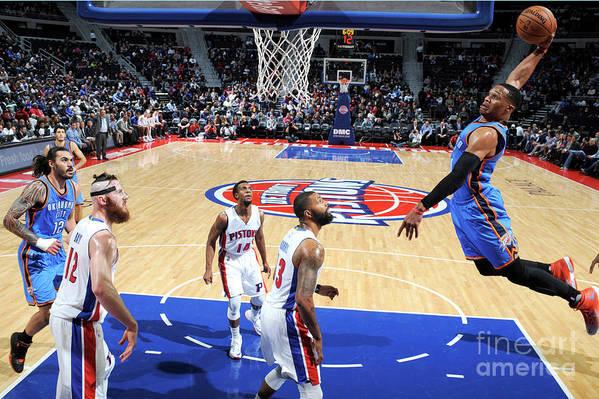 Nba Pro Basketball Art Print featuring the photograph Russell Westbrook by Chris Schwegler