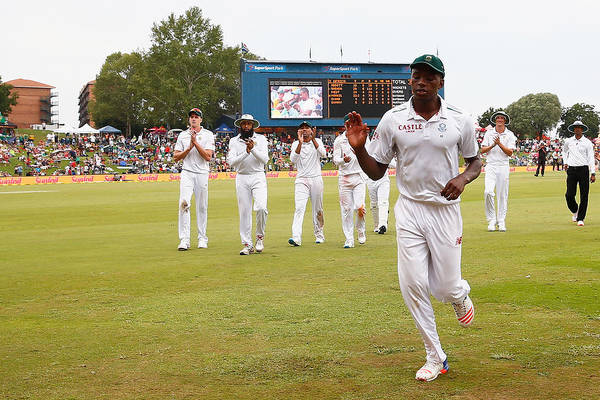 Supersport Park Art Print featuring the photograph South Africa v England - Fourth Test: Day Three by Julian Finney