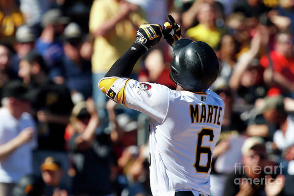 People Art Print featuring the photograph Starling Marte by Justin K. Aller