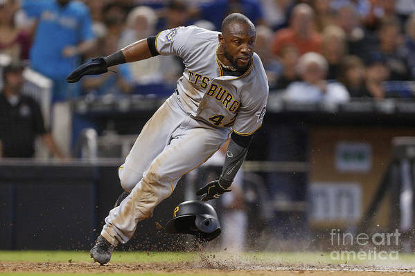 People Art Print featuring the photograph Starling Marte by Michael Reaves