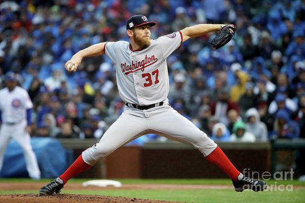 Second Inning Art Print featuring the photograph Stephen Strasburg by Jonathan Daniel