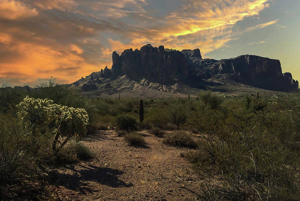 Mountain Art Print featuring the photograph Superstition Mountains by Jim Painter