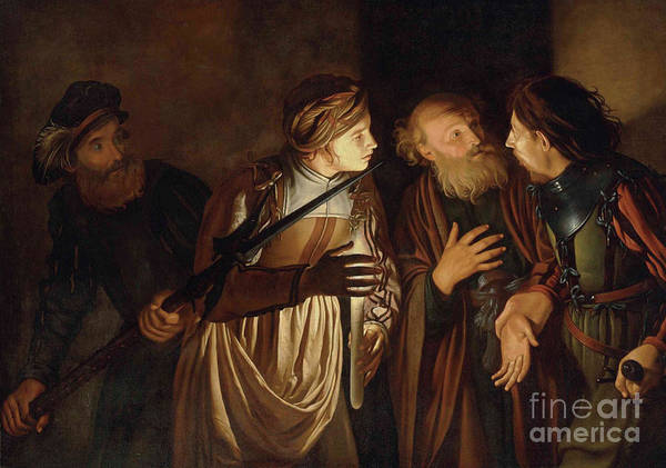 Coster Art Print featuring the painting The Denial of Saint Peter by Adam de Coster