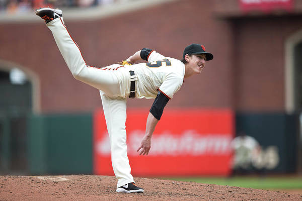San Francisco Art Print featuring the photograph Tim Lincecum by Jason O. Watson