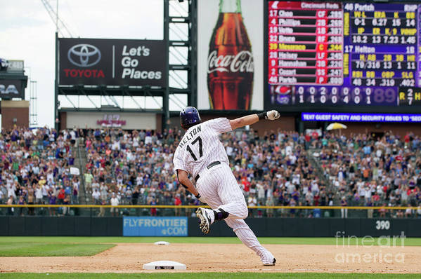 2nd Base Art Print featuring the photograph Todd Helton by Dustin Bradford