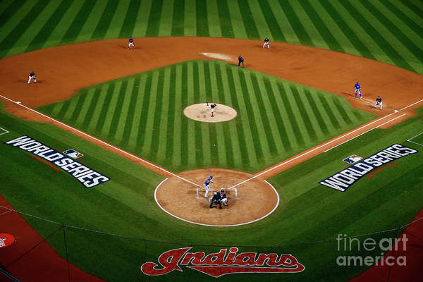 Game Two Art Print featuring the photograph Trevor Bauer by Jamie Squire
