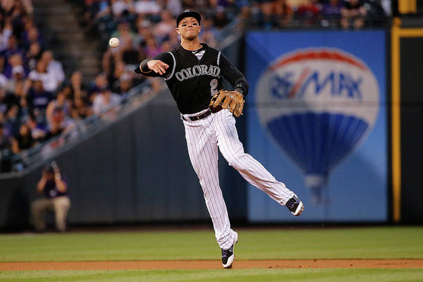 People Art Print featuring the photograph Troy Tulowitzki by Doug Pensinger