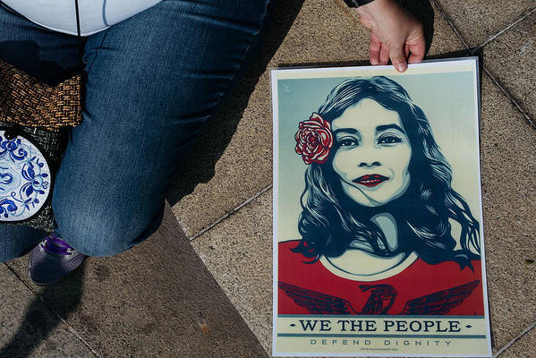 Macao Art Print featuring the photograph Women's March Held In Macau by Anthony Kwan