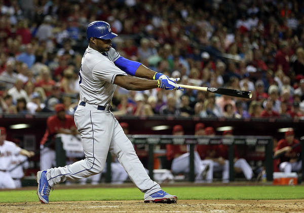 Los Angeles Dodgers Art Print featuring the photograph Yasiel Puig by Christian Petersen