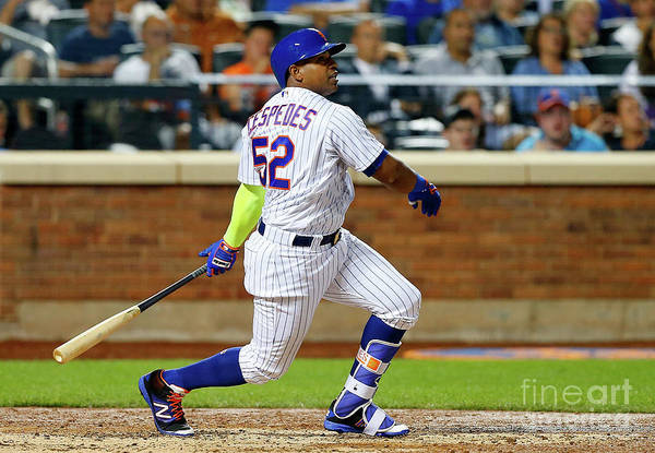 Following Art Print featuring the photograph Yoenis Cespedes by Jim Mcisaac