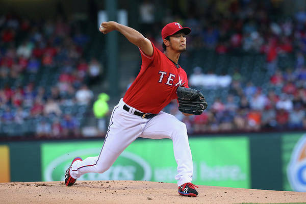 American League Baseball Art Print featuring the photograph Yu Darvish by Ronald Martinez