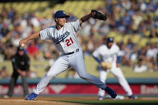 California Art Print featuring the photograph Zack Greinke by Paul Spinelli