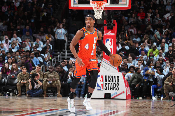 Nba Pro Basketball Art Print featuring the photograph 2020 NBA All-Star - Rising Stars Game by Nathaniel S. Butler