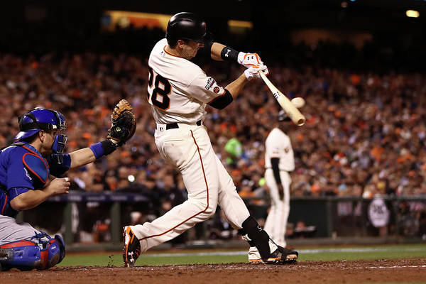 San Francisco Art Print featuring the photograph Buster Posey by Ezra Shaw