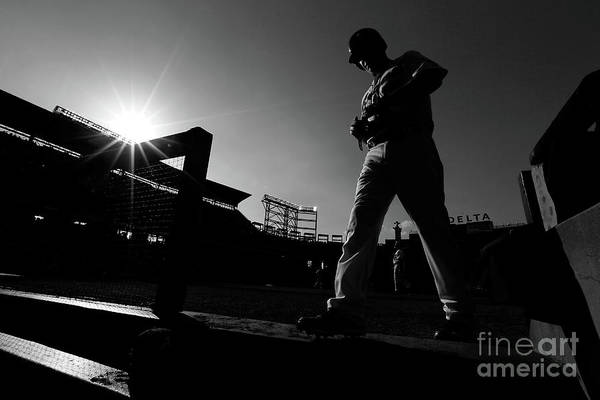 Atlanta Art Print featuring the photograph Chipper Jones by Kevin C. Cox