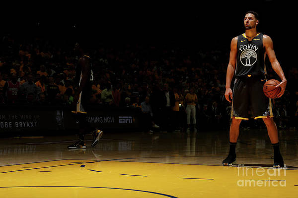 Playoffs Art Print featuring the photograph Klay Thompson by Nathaniel S. Butler
