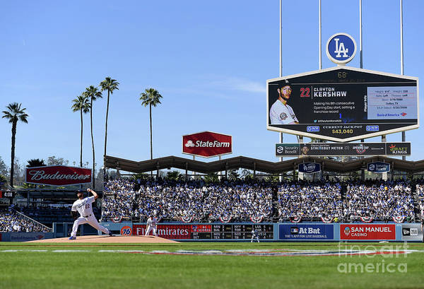 People Art Print featuring the photograph Clayton Kershaw by Harry How