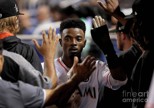 Second Inning Art Print featuring the photograph Dee Gordon by Mike Ehrmann