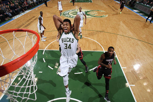 Nba Pro Basketball Art Print featuring the photograph Giannis Antetokounmpo by Gary Dineen