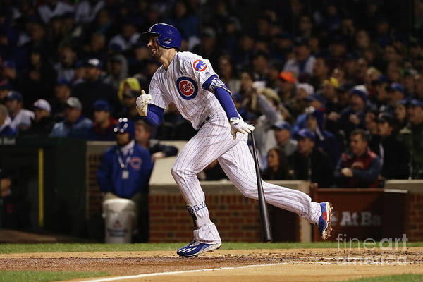 People Art Print featuring the photograph Kris Bryant by Jonathan Daniel