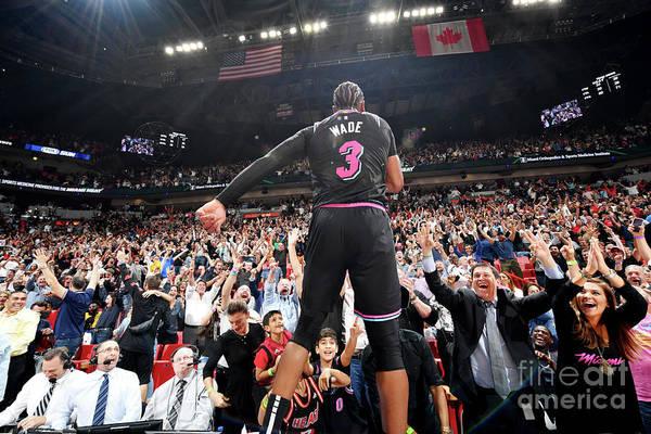 Nba Pro Basketball Art Print featuring the photograph Dwyane Wade by Jesse D. Garrabrant