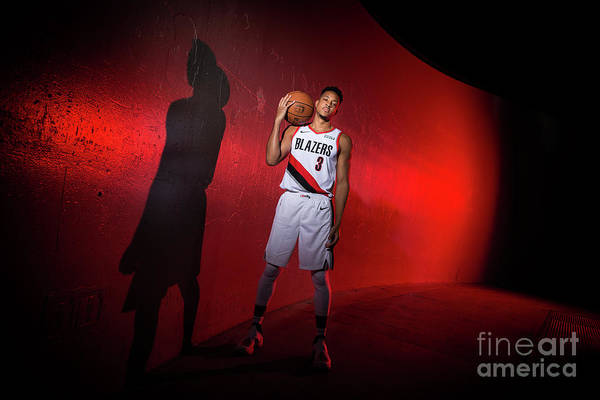 Media Day Art Print featuring the photograph C.j. Mccollum by Sam Forencich
