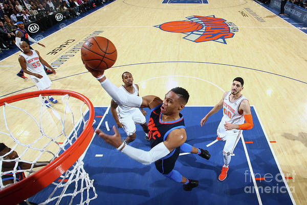 Nba Pro Basketball Art Print featuring the photograph Russell Westbrook by Nathaniel S. Butler