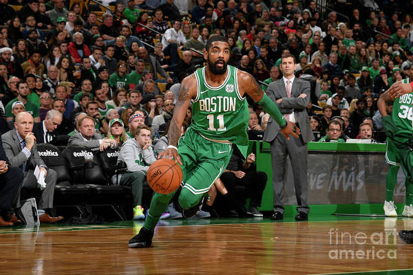 Nba Pro Basketball Art Print featuring the photograph Kyrie Irving by Brian Babineau