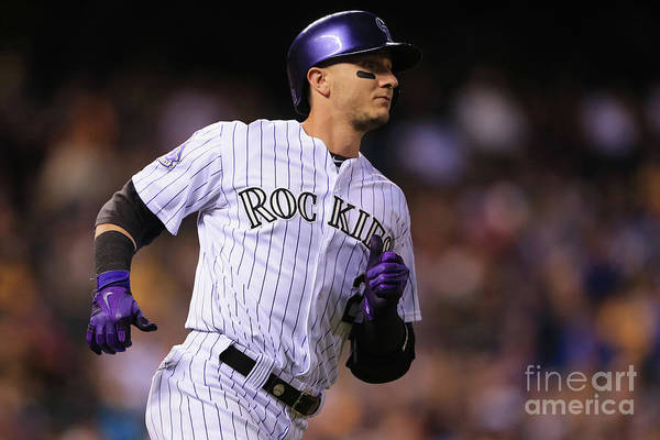 National League Baseball Art Print featuring the photograph Troy Tulowitzki by Doug Pensinger
