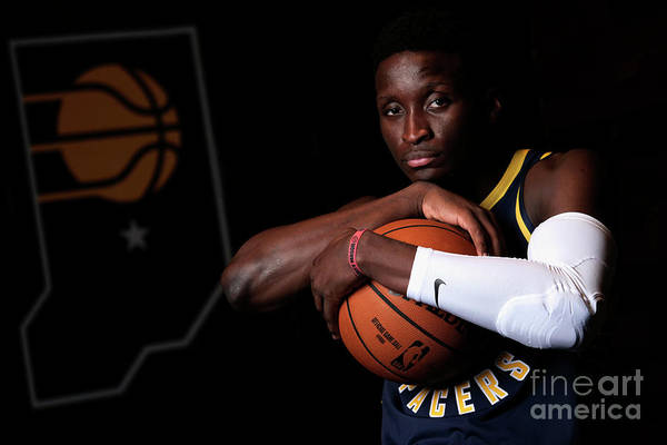 Media Day Art Print featuring the photograph Victor Oladipo by Ron Hoskins