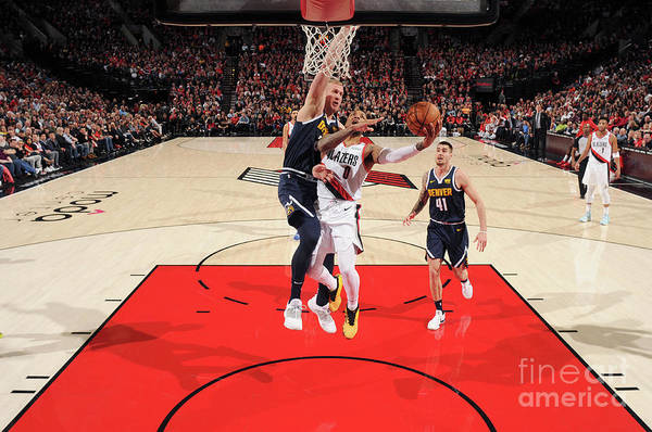 Nba Pro Basketball Art Print featuring the photograph Damian Lillard by Cameron Browne
