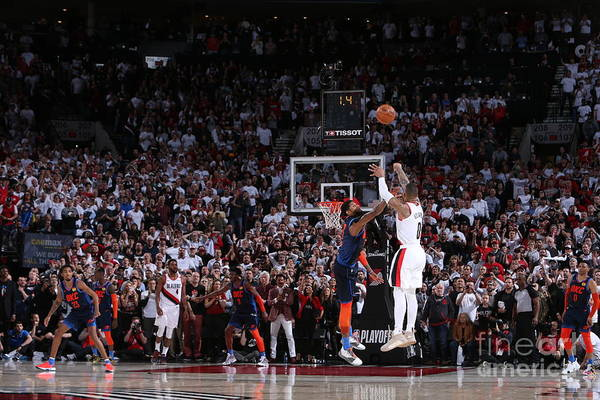 Playoffs Art Print featuring the photograph Damian Lillard by Sam Forencich