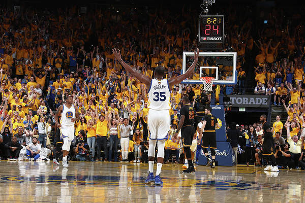 Playoffs Art Print featuring the photograph Kevin Durant by Nathaniel S. Butler