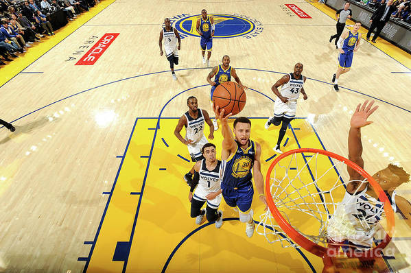 Nba Pro Basketball Art Print featuring the photograph Stephen Curry by Noah Graham