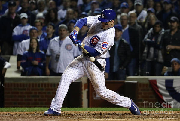 Ninth Inning Art Print featuring the photograph Anthony Rizzo by Jonathan Daniel