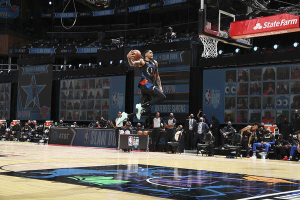 Atlanta Art Print featuring the photograph 2021 NBA All-Star - AT&T Slam Dunk Contest by Nathaniel S. Butler