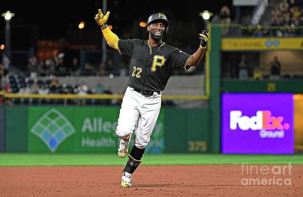 Second Inning Art Print featuring the photograph Andrew Mccutchen by Justin Berl