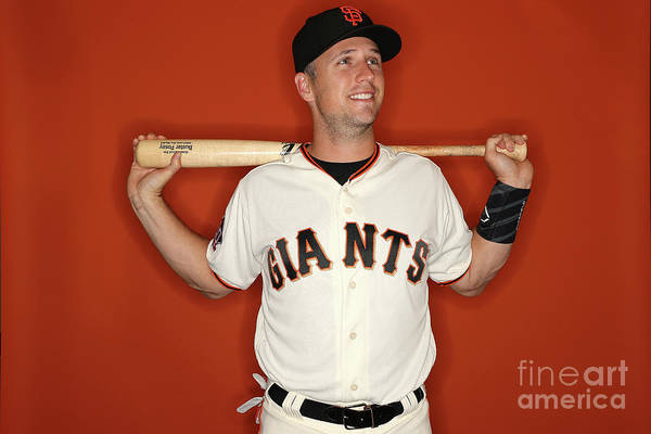 Media Day Art Print featuring the photograph Buster Posey by Patrick Smith