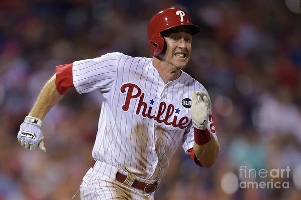 Three Quarter Length Art Print featuring the photograph Chase Utley by Drew Hallowell