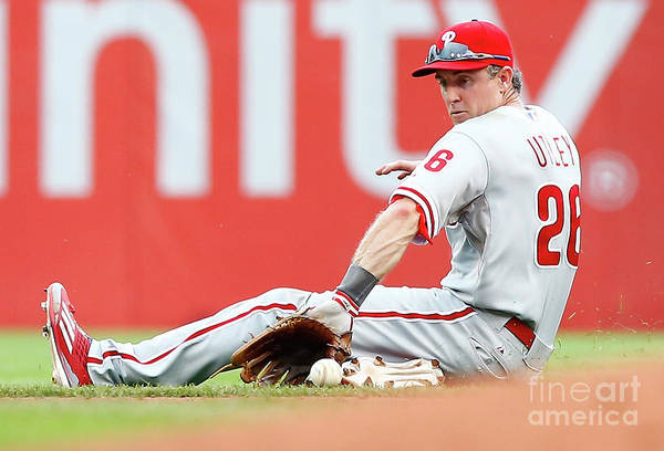 People Art Print featuring the photograph Chase Utley by Jared Wickerham
