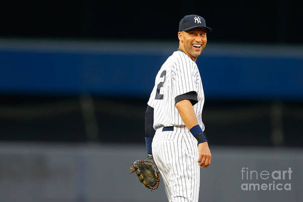 People Art Print featuring the photograph Derek Jeter by Mike Stobe