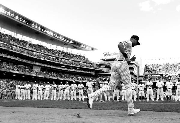 Derek Jeter Art Print featuring the photograph Derek Jeter by Rob Carr