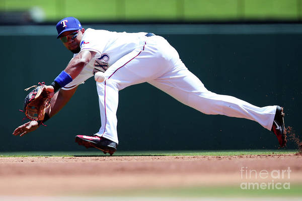 People Art Print featuring the photograph Elvis Andrus by Tom Pennington