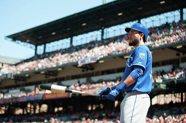 American League Baseball Art Print featuring the photograph Eric Hosmer by Rob Tringali