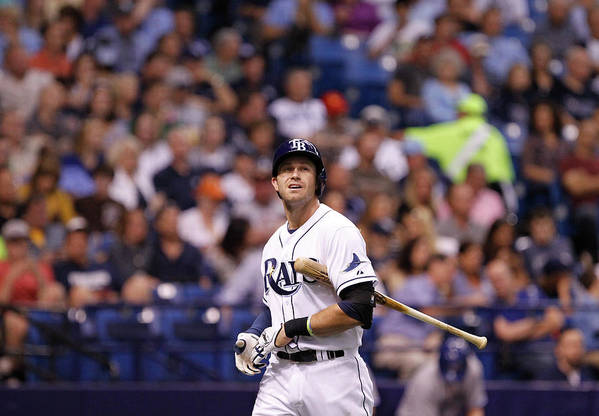 Second Inning Art Print featuring the photograph Evan Longoria by Brian Blanco