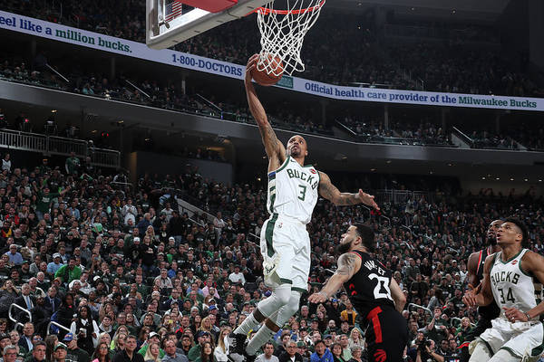 Game Two Art Print featuring the photograph George Hill by Nathaniel S. Butler
